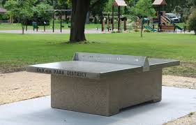 outdoor ping pong table for dekalb park district doty concrete