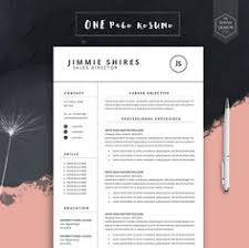 Modern Resume Template Free Word Resume Template And Cover Letter Template Professional Creative