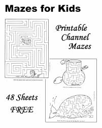 mazes kids printable free