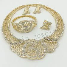 beautiful gold necklace set images Dubai african wedding gold jewelry gold color fashion jewelry set jpg