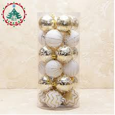 2017 navidad 24pcs decorative 6cm balls for