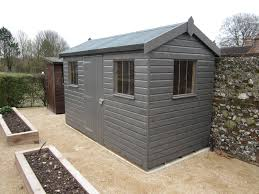 6x4 wooden tongue groove garden shed with flat roof garden sheds
