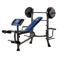 marcy 80 lb vinyl weight set bench combo with butterfly hayneedle