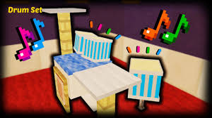 Minecraft How To Make A Furniture by Minecraft How To Make A Drum Set Youtube