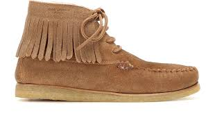 ugg australia s aireheart boots vintage chestnut laurent fringed suede moccasins in lyst