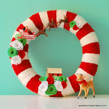 christmas reefs diy retro christmas yarn wreath my so called crafty
