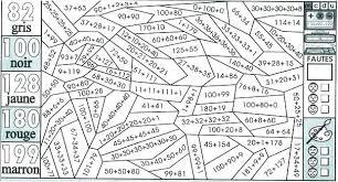 Coloriage Magique Cm2 Maths Multiplication  Artemiaorg