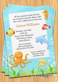 the sea baby shower invitations the sea baby shower invitation