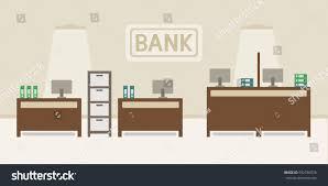 modern bank interior design flat style stock vector 592786976