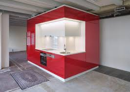modular kitchen and bath units designed to turn empty buildings
