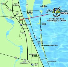 Melbourne Florida Map by Contact Us Blue Marlin Pools