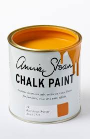 orange paint barcelona chalk paint wonderfaux home