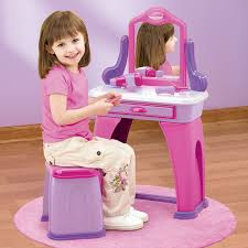 Little Girls Vanity Playset Toddler Vanity Toy Home Vanity Decoration