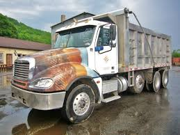 2006 freightliner cl120 columbia tri axle dump truck for sale by