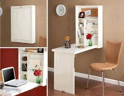 folding desks for small spaces wall mounted folding desk ideas for small space living homesfeed