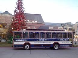 Utah travel buses images Jingle bus trolley at the gateway picture of us bus utah salt jpg