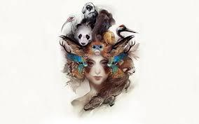 imagenes abstractas hd de animales mujeres animales abstractos artwo fondos de pantalla gratis
