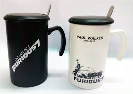 buy beautiful fast and furious coffee mugs with lid and spoon