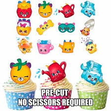 edible cake decorations precut shopkins petkins 12 edible cupcake toppers birthday cake