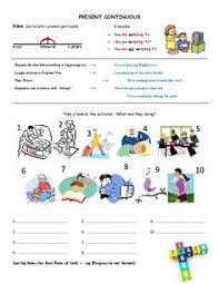 what are they doing present continuous worksheet kindergarten