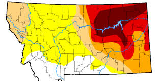Us Drought Map Expanding Drought Covers Over Half Of Montana