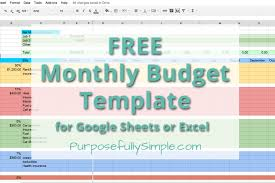 Monthly Budget Template Excel Free Monthly Budget Spreadsheet Thebridgesummit Co
