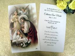 prayer cards holy communion personalized prayer cards cromo nb