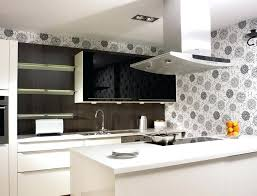 wallpaper backsplash kitchen wallpaper for kitchen backsplash homesfeed modern kitchen