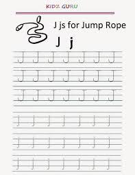 kindergarten worksheets printable tracing worksheet alphabet j j