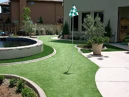 Artificial Backyard Putting Green by Grass Carpet Carlton Oregon Putting Greens Backyard Landscaping
