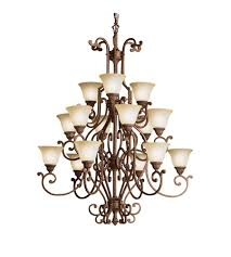 Kichler Lighting Chandelier Kichler Lighting Larissa 15 Light Chandelier In Tannery Bronze W