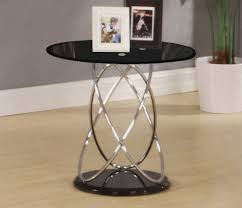Small Lamp Table Chrome U0026amp Glass End Lamp Small Side Coffee Table Clear Black