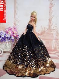 handmade princess wedding party dress clothes gown barbie