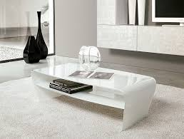 glossy white coffee table impressive 10 best collection of white modern coffee table simple