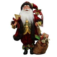 16 inch standing whimsical santa claus