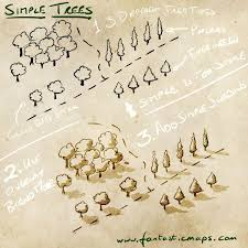 Map Middle Earth How To Draw Simple Trees On A Map Middle Earth And Rpg
