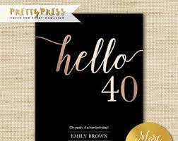 40th birthday invite etsy