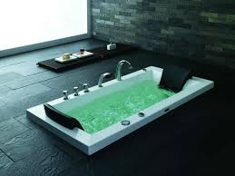 bathroom built in hydromassage bathtub wooden floor bathrooms