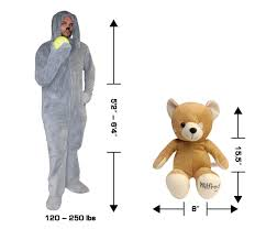 Wilfred Costume Costume Agent Size Chart