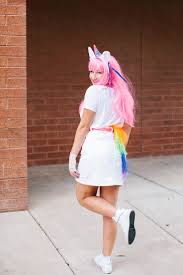 diy emoji unicorn halloween costume made entirely with items