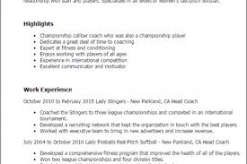 Sample Basketball Coach Resume by Head Coach Resume Sample Reentrycorps