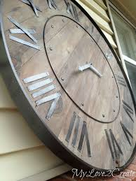oversized wood wall 41 best diy large clocks images on clock wall wood