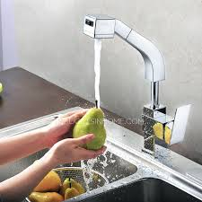 Kitchen Faucets High End by End Square Shaped Pullout Rotatable Kitchen Faucet