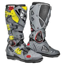 grey motorcycle boots sidi motorcycle boots crossfire 3 srs promotional video