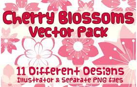 vector cherry blossom design vector