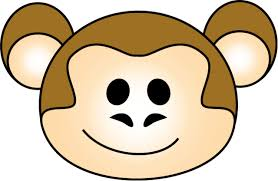 cute baby monkey coloring pages baby monkey face clip art clipart panda free clipart images