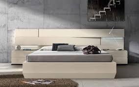 Platform Bed With Lights Bedroom Captivating Made In Italy Leather Modern Platform Bed