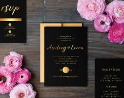 black and gold wedding invitations white and gold wedding invitations set classic gold