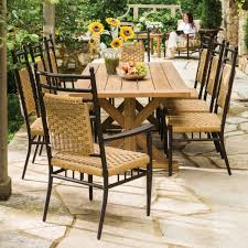Antique Patio Chairs Traditional Country Farmhouse Large Patio Dining Set With 8 Chairs