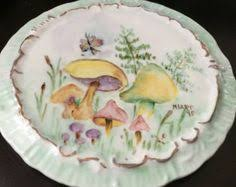 and groom plates r c versailles bavaria painted vintage antique plate yellow